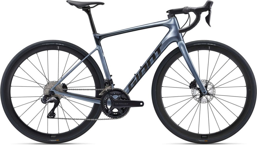GIANT Defy Advanced Pro 1 L Metallicblack / Metallicred