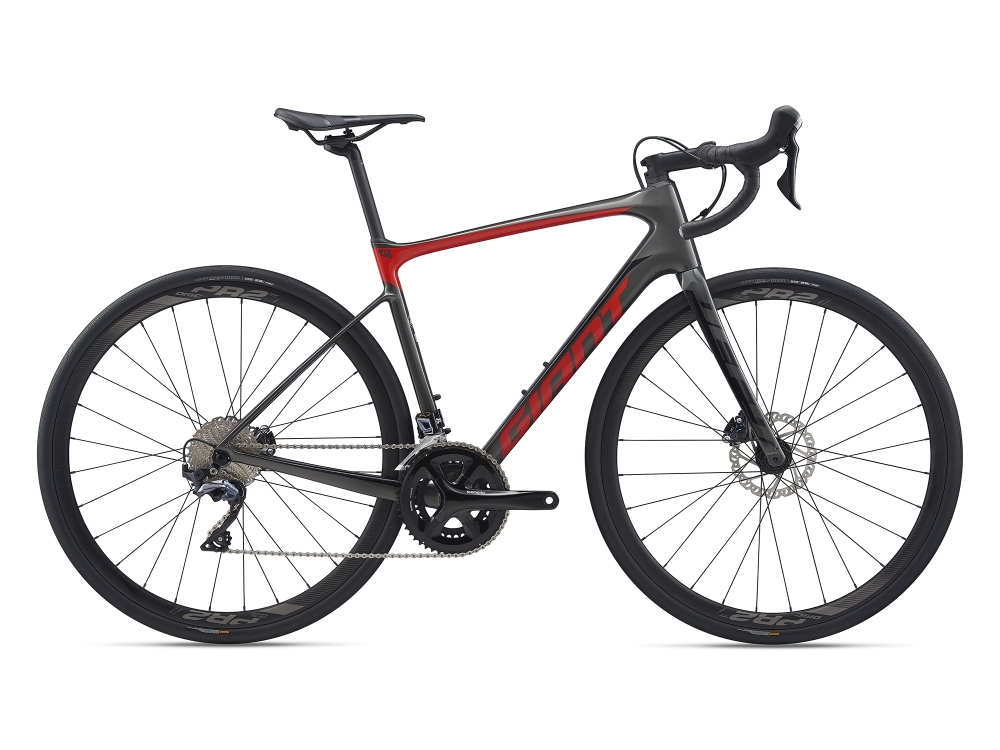 GIANT Defy Advanced 1 ML Charcoalgrey / Purered