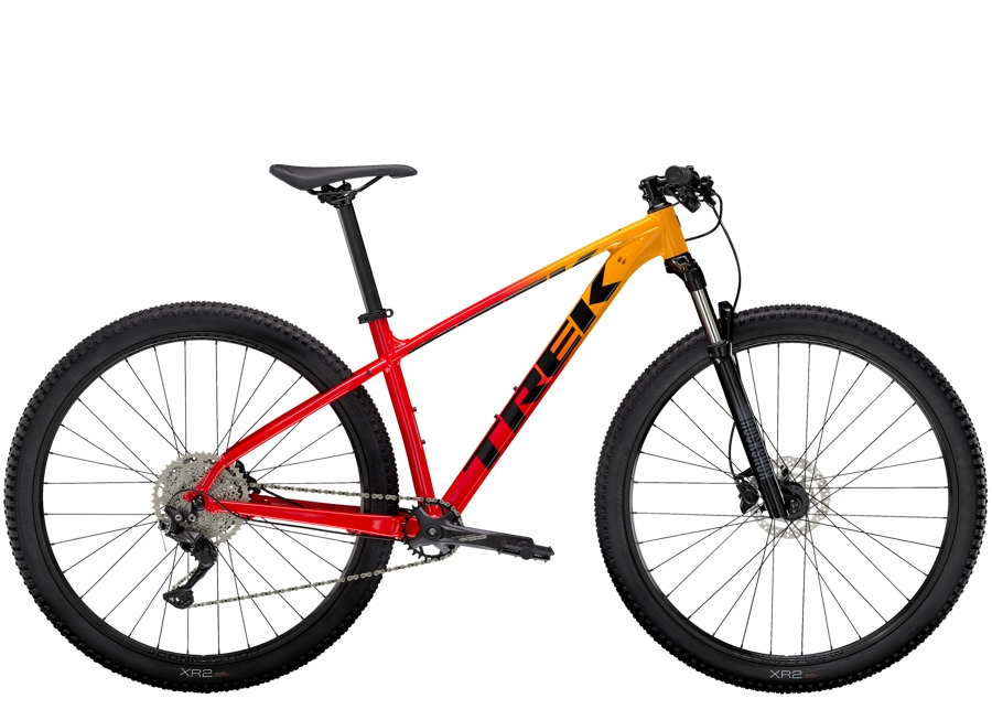 Trek Marlin 7 S (27.5  wheel) Marigold to Radioactive Red Fade