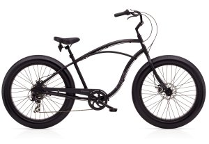 Electra Cruiser Lux Fat Tire 7D Step-Over 26  Black Satin